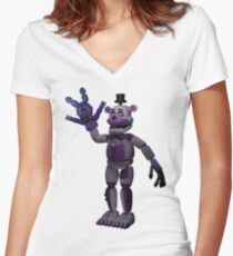 Five Nights At Freddy's Sister Location Women's Fitted V-Neck T-Shirt