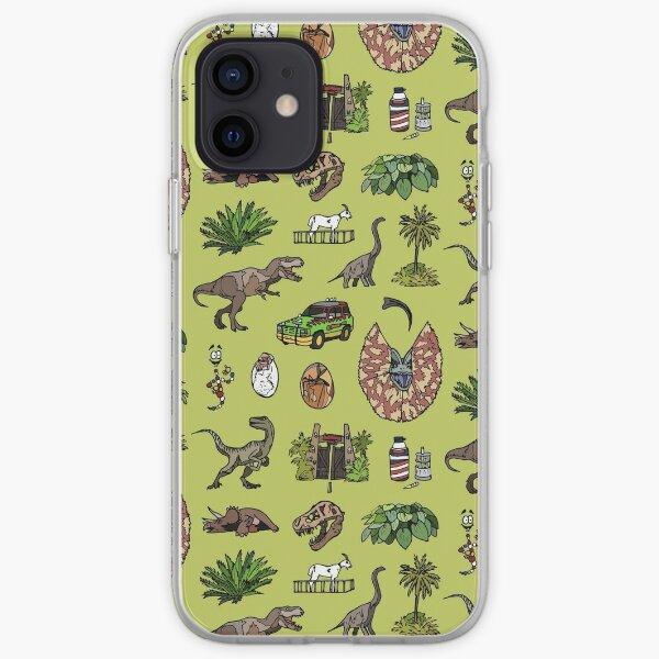 Jurassic pattern lighter iPhone Soft Case