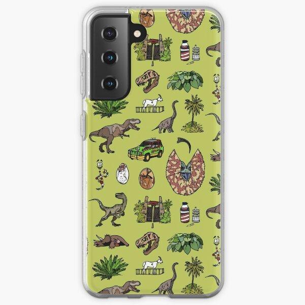 Jurassic pattern lighter Samsung Galaxy Soft Case