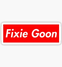 Fixie Goon Box Logo Sticker