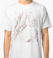 Rose gold vein marble Classic T-Shirt
