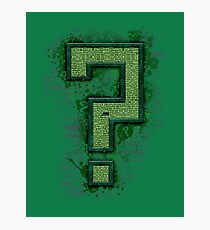 Riddler's Questionable Maze Photographic Print