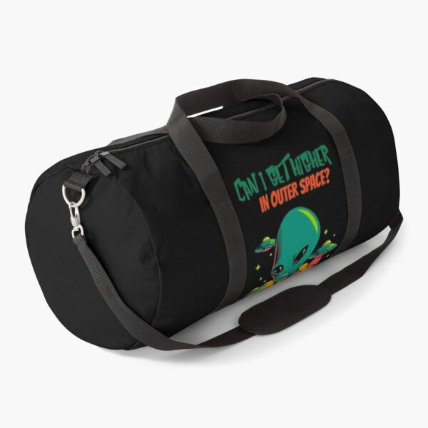Higher in Outer Space Alien (Black) Duffle Bag