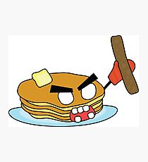 angry zombie pancakes wielding a sausage Photographic Print