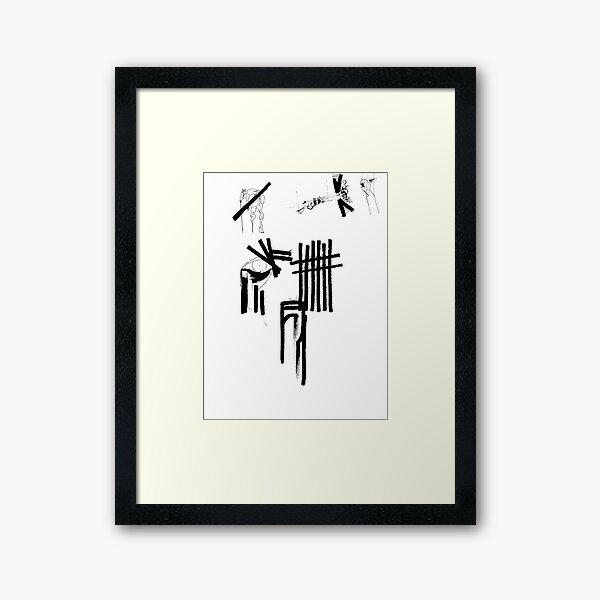 Death, Despair and Destitution Framed Art Print