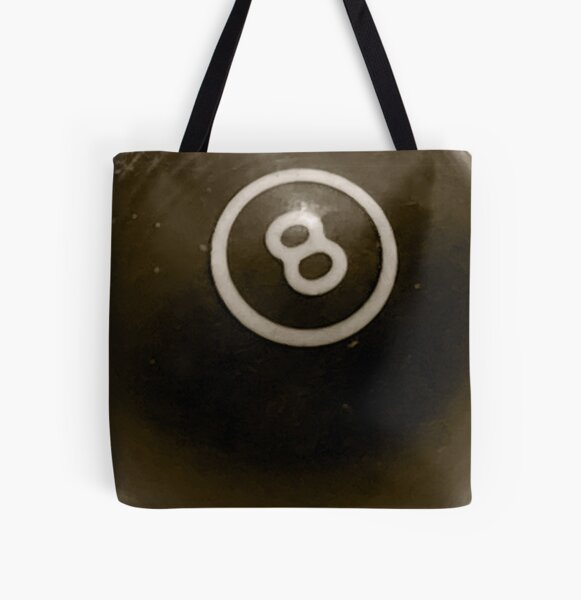Vintage Billiard Eight Ball All Over Print Tote Bag