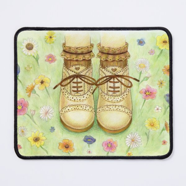 Shoes in Flowers Mouse Pad