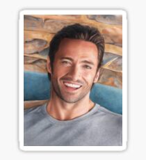 Hugh Jackman Art Sticker