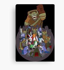 Castle Crashers 4 Swords Style Canvas Print
