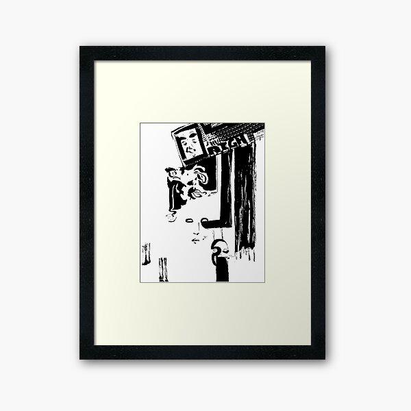 Who, Where, Why Framed Art Print