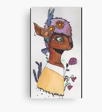 Hipster Deer Babe Canvas Print