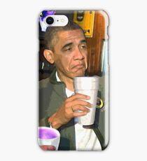 Obama Sippin  iPhone Case/Skin