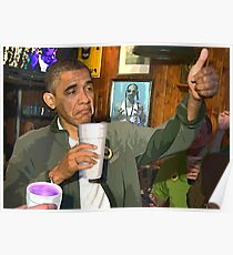 Obama Sippin  Poster