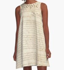 The Constitution of United States of America 1 A-Line Dress