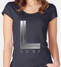 L Corp Logo Swag - CW's Supergirl Women's Fitted Scoop T-Shirt