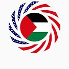 Palestinian American Multinational Patriot Flag Series by Carbon-Fibre Media
