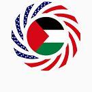 Palestinian American Multinational Patriot Flag Series by Carbon-Fibre Media