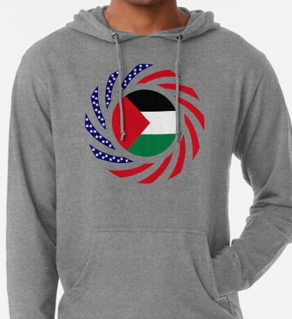 Palestinian American Multinational Patriot Flag Series Lightweight Hoodie