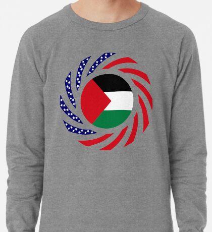 Palestinian American Multinational Patriot Flag Series Lightweight Sweatshirt