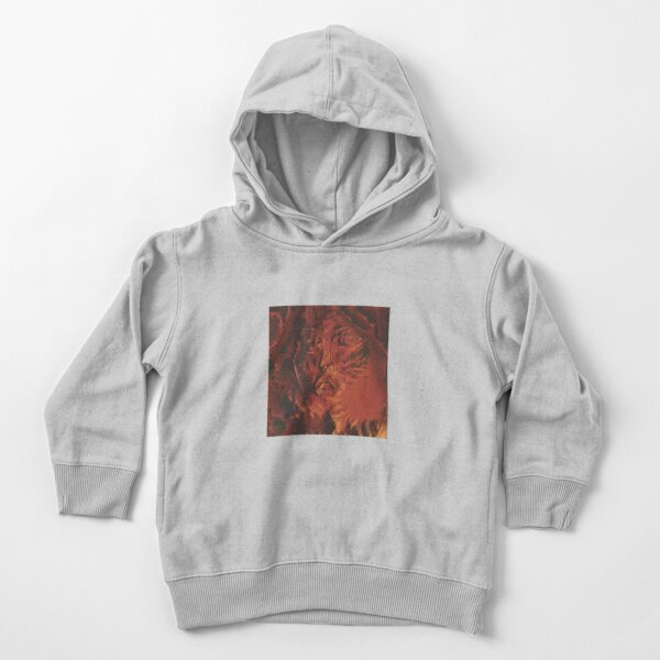 man in a very hot fire Toddler Pullover Hoodie
