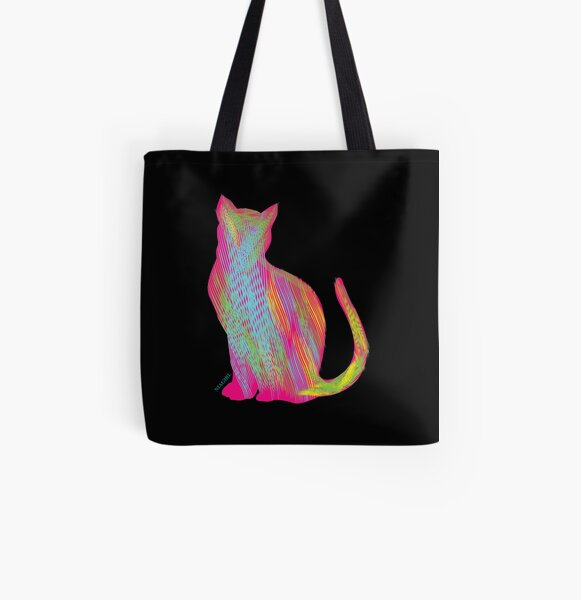 Cat-titude All Over Print Tote Bag