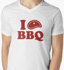 I Love BBQ Men's V-Neck T-Shirt