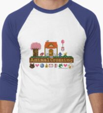 Animal Crossing Pixel house Men's Baseball ¾ T-Shirt