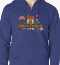 Animal Crossing Pixel house Zipped Hoodie