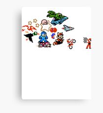 8-bit Race Canvas Print