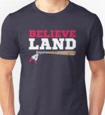 Believe Land Cleveland Baseball Slim Fit T-Shirt