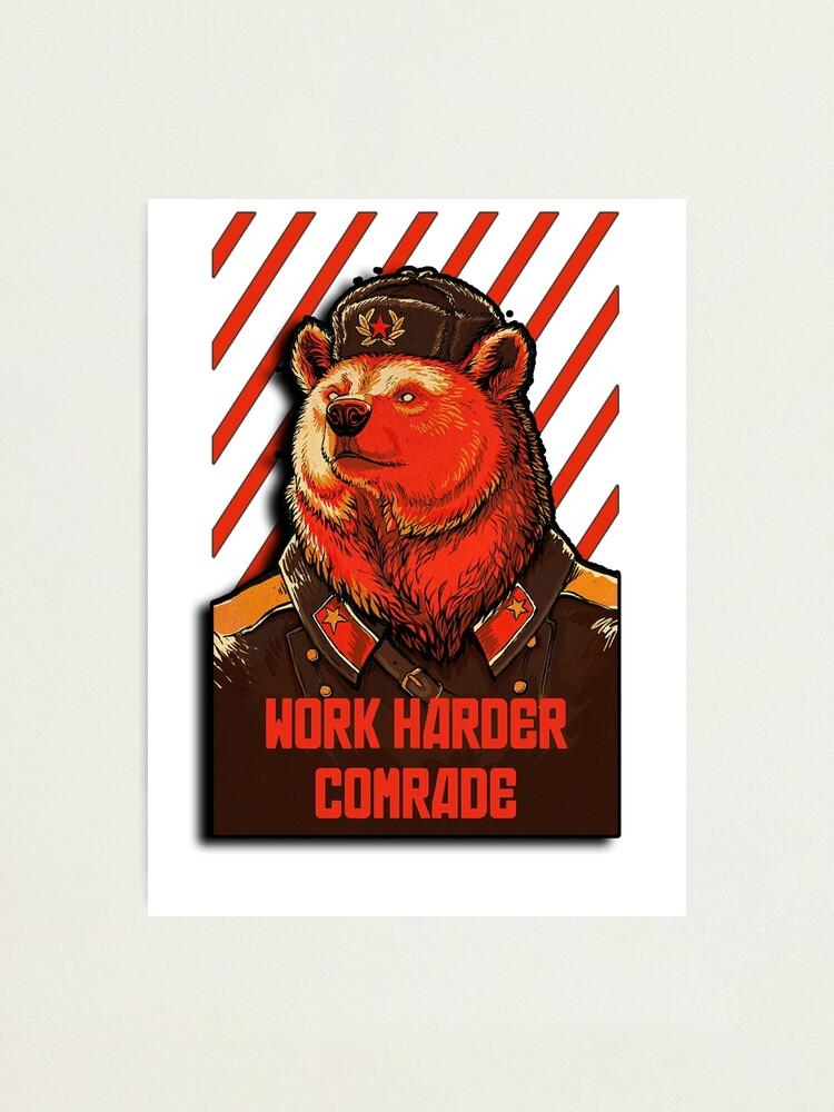 Alternate view of Vote Soviet bear - russian bear meme Photographic Print