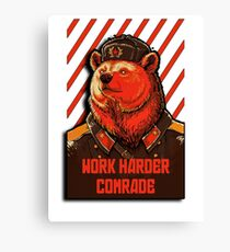Vote Soviet bear - russian bear meme Canvas Print