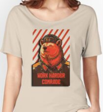 Vote Soviet bear - russian bear meme Women's Relaxed Fit T-Shirt