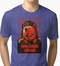 Vote Soviet bear - russian bear meme Tri-blend T-Shirt