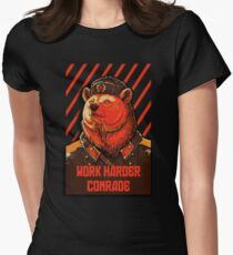 Vote Soviet bear - russian bear meme Women's Fitted T-Shirt