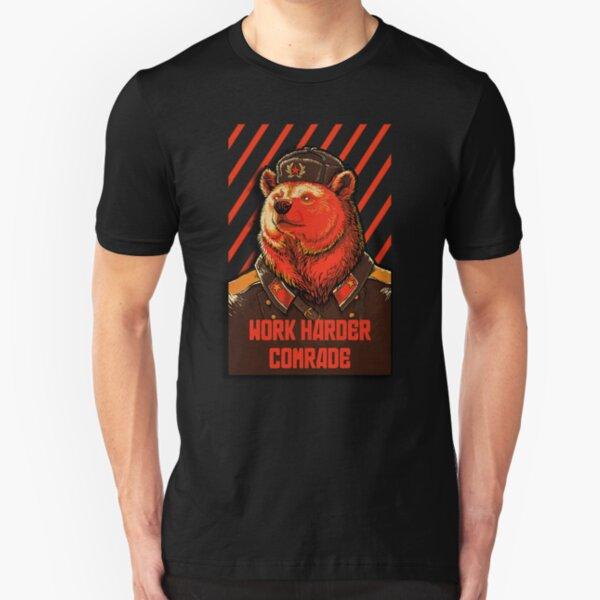 Wählen Sie sowjetischen Bären - russisches Bärenmem Slim Fit T-Shirt