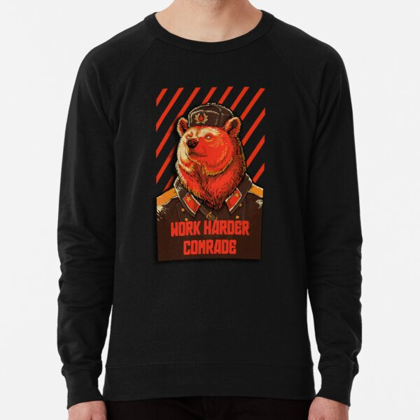 Vote Soviet bear - russian bear meme Lightweight Sweatshirt