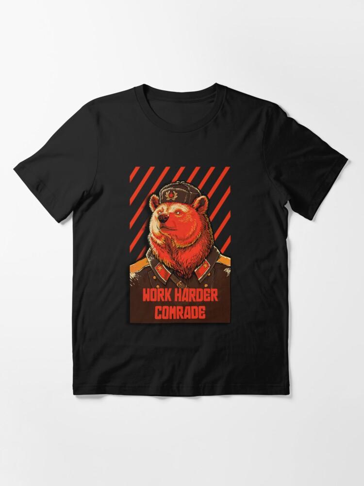 Alternate view of Vote Soviet bear - russian bear meme Essential T-Shirt