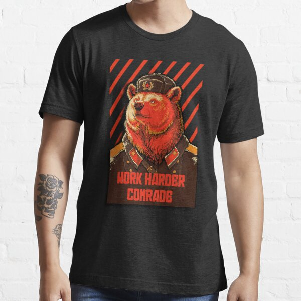 Votar oso soviético - meme oso ruso Camiseta esencial