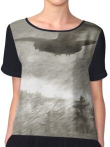Stealth And Surprise Of The Night Owl Women's Chiffon Top
