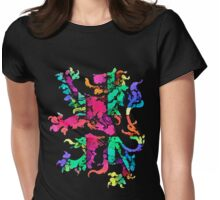 Rampant Retro Lion Womens Fitted T-Shirt