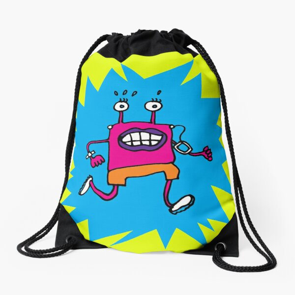 RUNNING MONSTER Drawstring Bag