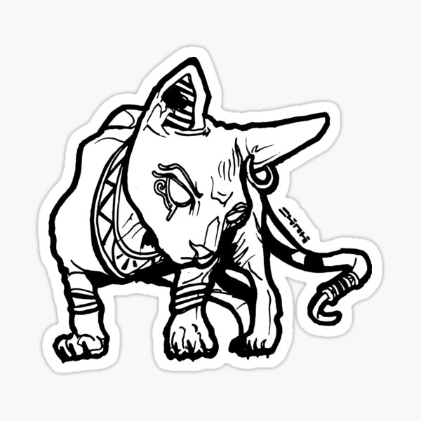 Blingin Sphynx Cat #RBPetMonsters Sticker