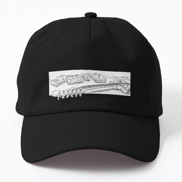 Guitar and Pedals (Black and White) Dad Hat