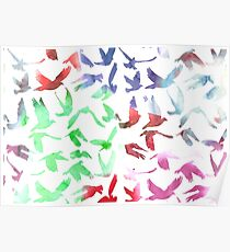 Watercolor Doves Poster