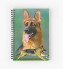 German Shepherd Breed Art Spiral Notebook