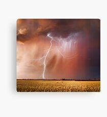 Stunning Sunset Lightning, Dowering, Western Australia Canvas Print