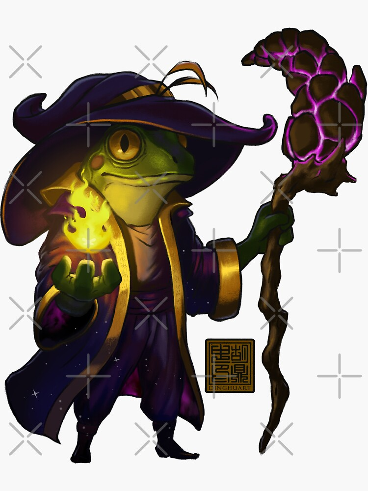 Frog Wizard by DingHuArt