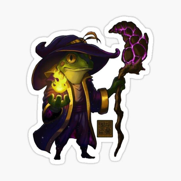 Frog Wizard Sticker