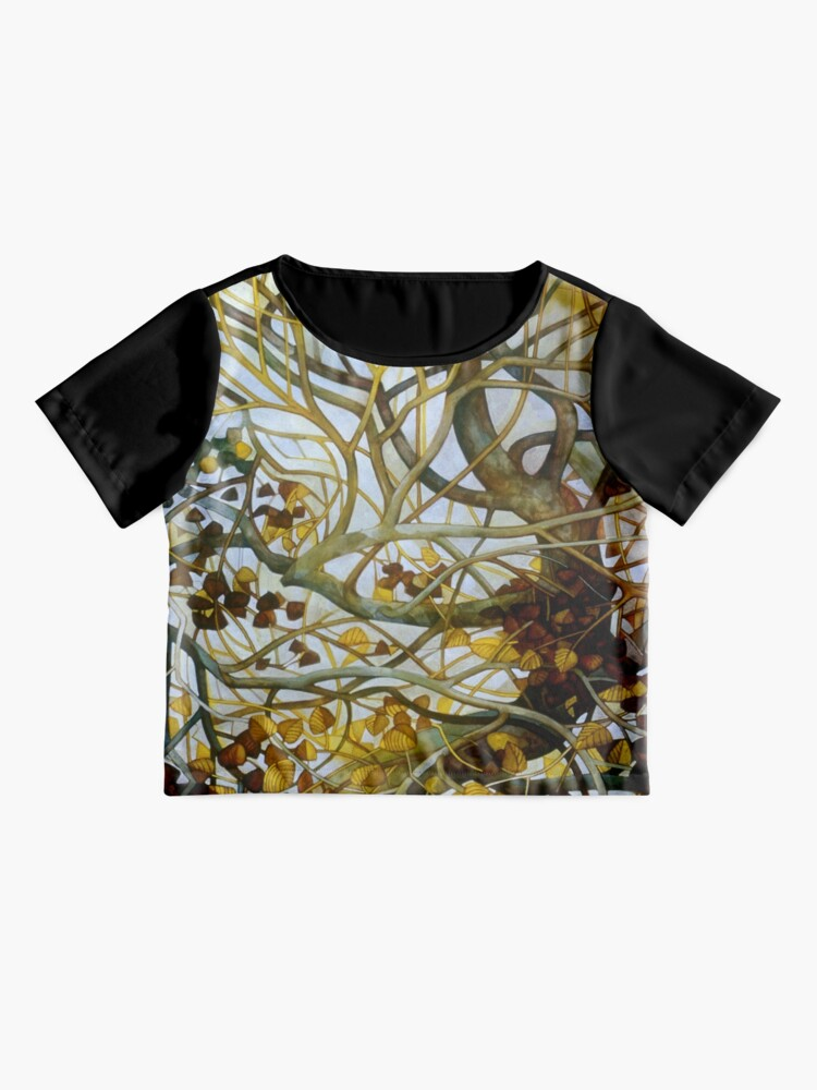 Alternate view of yellow leaves Chiffon Top